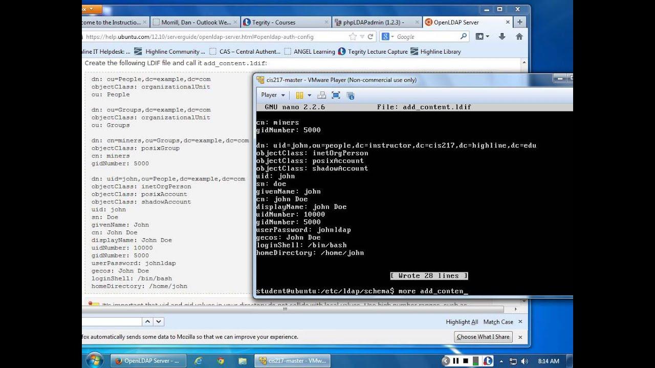 Command line LDAP scripting - user_add ldif
