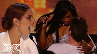 SIMON COWELL Gets A LAP DANCE From X Factor Contestant | X Factor Global