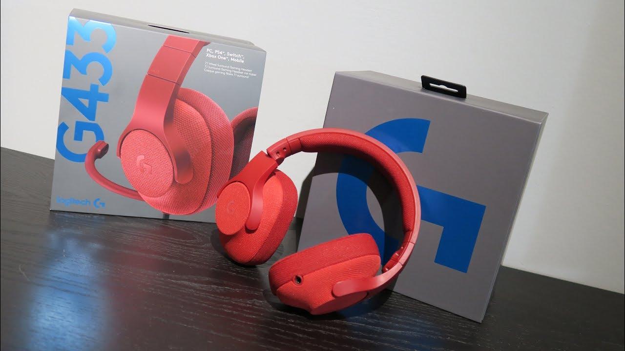 Logitech G433 7 1 Surround Gaming Headset Unboxing Youtube