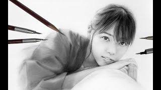 西野七瀬さん、卒業前に描いてみました。 前回の飛鳥ちゃんに続き小さい...