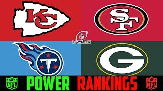 NFL Playoff Power Rankings (NFL Conference Championship Round) Packers 49ers Titans Chiefs