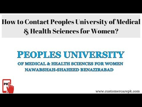 Peoples University of Medical & Health Sciences for Women  Address, Phone Number, Email ID, Website