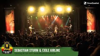 Sebastian Sturm & Exile Airline beim Black Forest on Fire Reggae Festival 2017 in Berghaupten