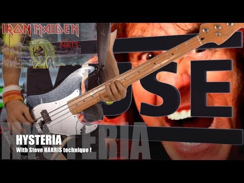 MUSE Hysteria Bass cover with Steve Harris technique
