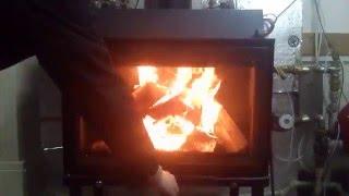 видео каминные топки жарко