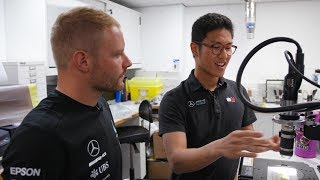 Valtteri Checks In With the PETRONAS Interns in Brackley!