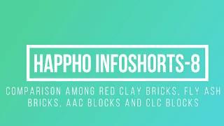 Comparison Among Red Clay Bricks, Fly ash bricks, AAC Blocks & CLC blocks - Happho Infoshorts