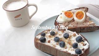 ENG/9月假日煮飯日常vlog 🥪  |做早午餐、藍莓吐司🥯、鮪魚吐司、植木日2🌱|Aya日本留學生活 日常 検索動画 9