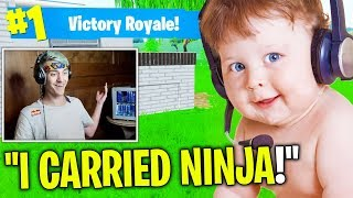 7 CUTEST KIDS Who Played With Fortnite STREAMERS! (Tfue, Ninja)