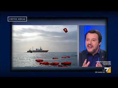 Matteo Salvini (Ministro dell'Interno): 'Nel Mediterraneo non c'è una ONG italiana'