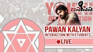 pawan kalyan interaction with students gates institute of technology live   ista gosti   jana sena