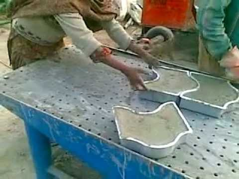 how to make cement designer tiles with vibro table