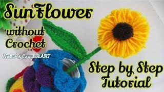 Sunflower Making Trick/ Woolen Flower Making Trick