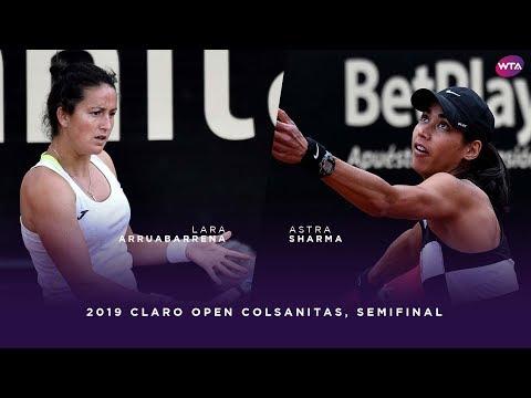 Lara Arruabarrena vs. Astra Sharma | 2019 Claro Open Colsanitas Semifinal | WTA Highlights