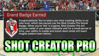 grand badge unlocked shot creator pro nba 2k17 badge guide