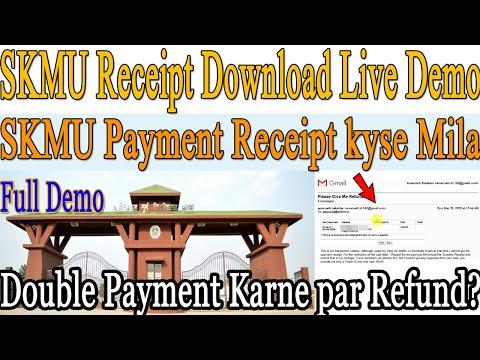 SABPAISA Receipt Download From | SABPAISA Payment Receipt Download |SKMU Slip | Educational TechTube