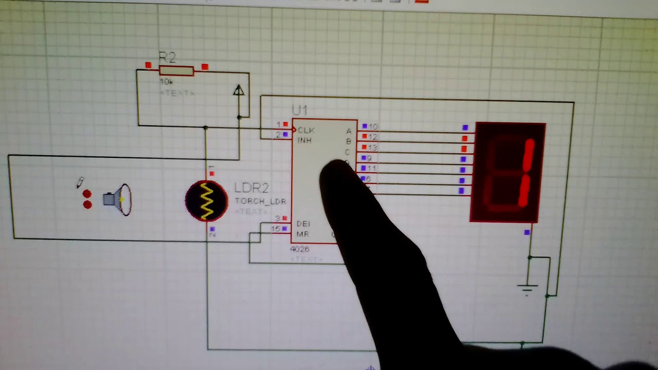 Simple Counter Circuit Using Ldr Sensor And Ic 4026 Youtube 7 Segment