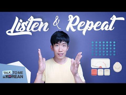 Listen & Repeat: The Korean Verbs Guide (audio + e-book)
