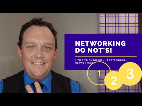 3 Tips to Successful Professional Networking