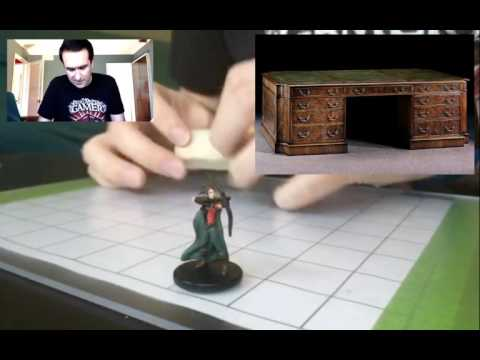 Dungeons and Dragons Miniature Sculpting - Antique Desk