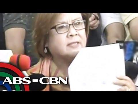 ANC Live: De Lima press con on Duterte drug matrix