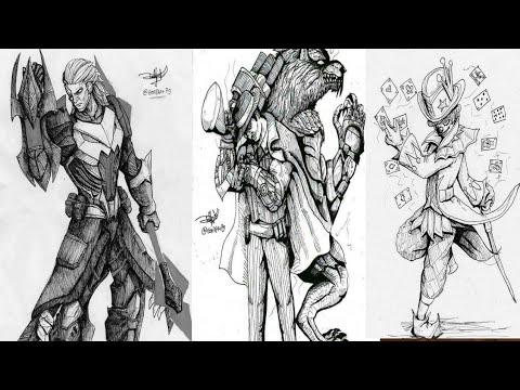 Cara Gambar Hero Mobile Legends