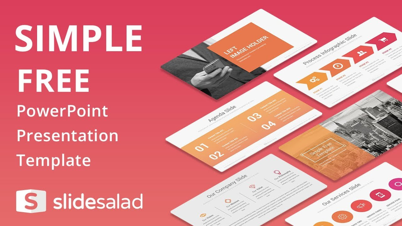 simple free powerpoint presentation template - slidesalad - youtube, Modern powerpoint