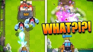 SPARKY 1 SHOTS TOWER - Clash Royale Glitches