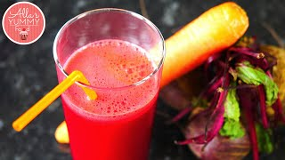Healthy Juice Recipes: Beetroot & Carrot Juice - Свекольно-морковный сок(Today we making Beetroot, Carrot & Apple juice. This ruby red juice is a good source of both vitamins C and K. It also contains Beta-carotene, which is converted ..., 2015-06-20T05:00:01.000Z)