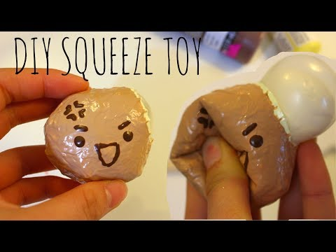 Diy Squishy Without Sponge : HOW TO MAKE A SQUISHY WITHOUT FOAM