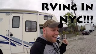 RV Driving & Camṗing Downtown New York City