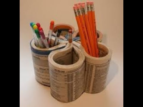 Gambar Cara Membuat Kotak Pensil Dari Koran - Kata Kata