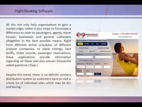 Flight Booking Engine for India Travel Agencies, Airline Booking Software - Axis Softech