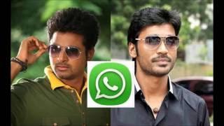 sivakarthikeyan and dhanush whatsapp leaked audio
