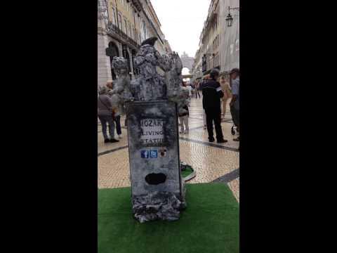 Mozart Living Statue, Lisabon