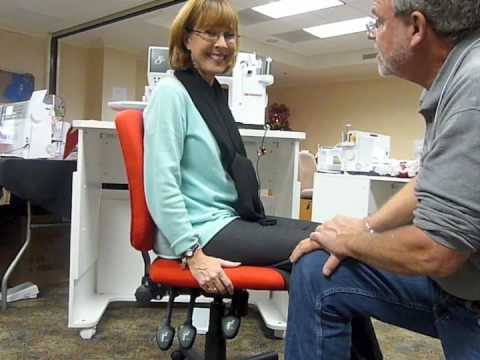 Alex Anderson Tries Out The Bernina Chair Youtube