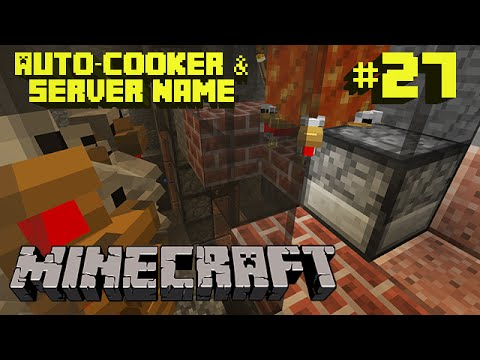 how to make an auto cooker minecraft