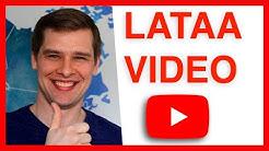 Videon lataaminen YouTubeen vuonna 2020