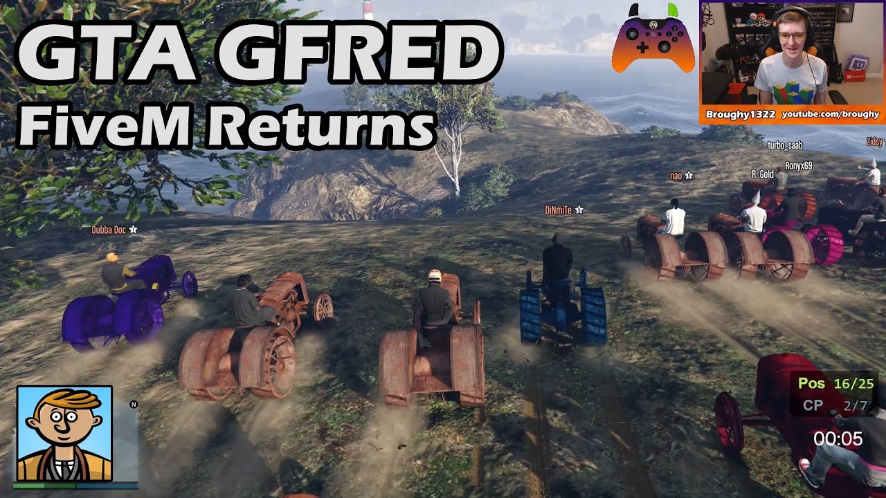 FiveM Gfred Returns! - GTA 5 Gfred Racing Live #15