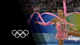 Kanaeva's Rhythmic Gymnastics Double Gold   90 Seconds of the Olympics
