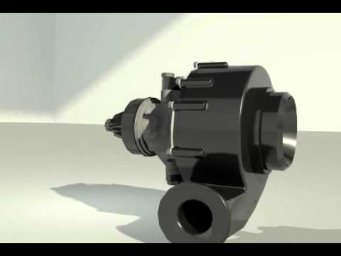 Turbocharger Animation From 3DsMax For HND CAD Graded Unit