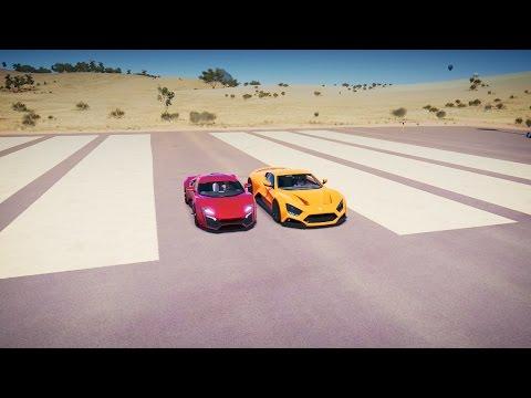 Zenvo ST1 vs Lykan HYPERSPORT Drag Race! Forza Horizon 3