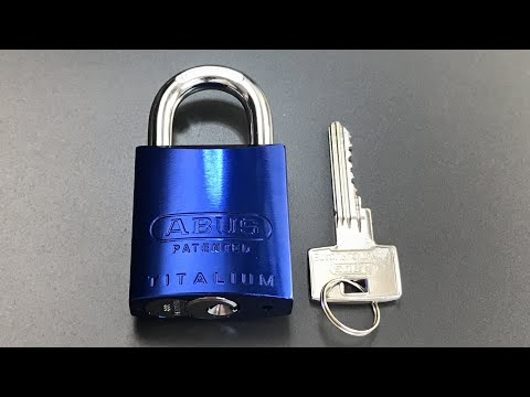 Взлом отмычками ABUS 83AL/45 Titalium  [512] Abus 83AL/45 Titalium with Restricted 888 Cylinder Picked and Gutted ()