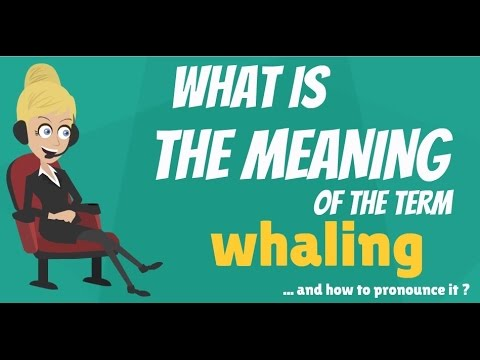 What is WHALING? What does WHALING mean? WHALING meaning, definition & explanation
