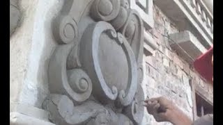 Process Making Beautiful House Column From Cement And Sand In Time Lapse Video