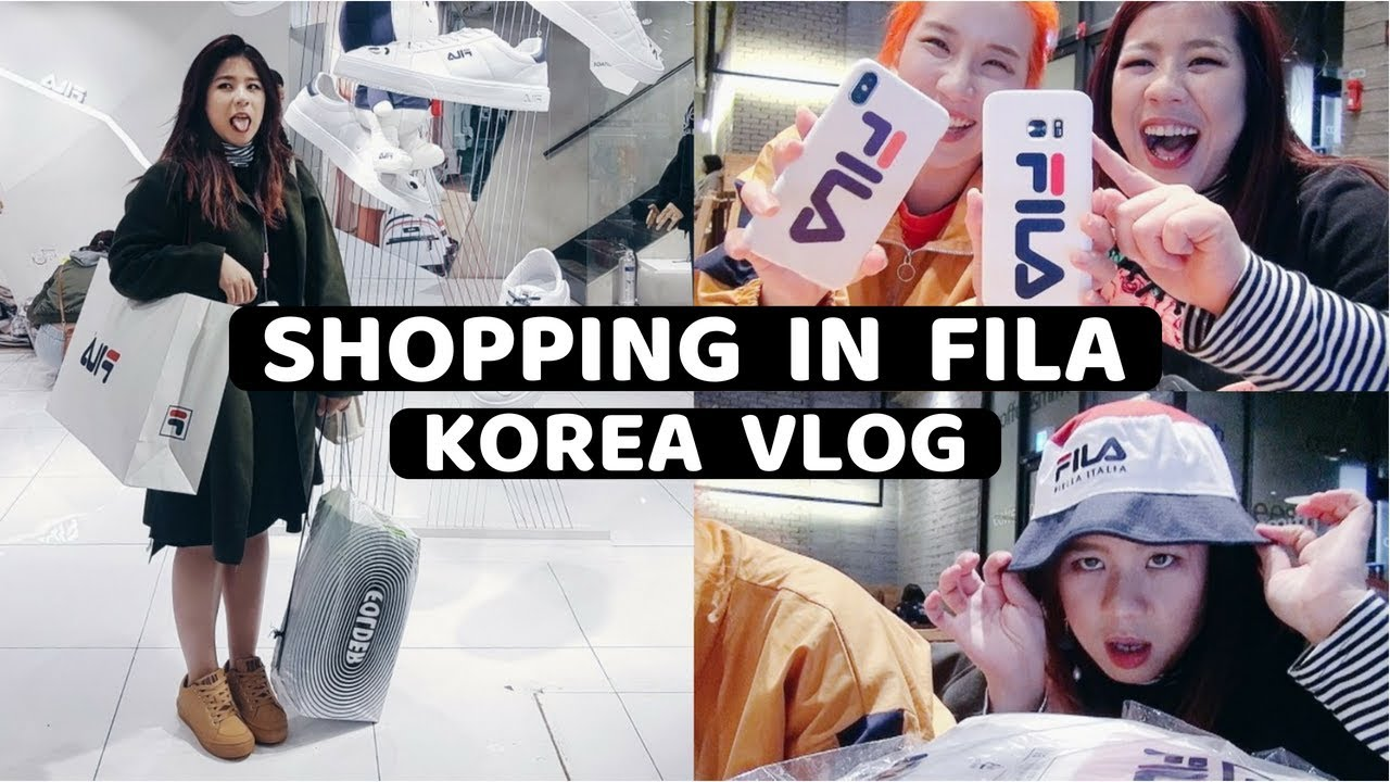 Korea Vlog: SHOPPING IN FILA + HAUL
