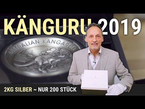 2 KG SILBER - KÄNGURU 2019 - NUR 200 STÜCK