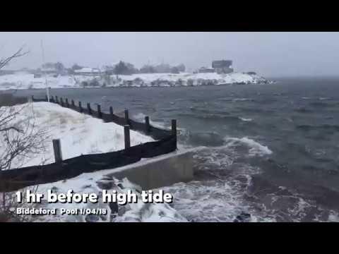 January 4 Blizzard Biddeford Pool Before High tide