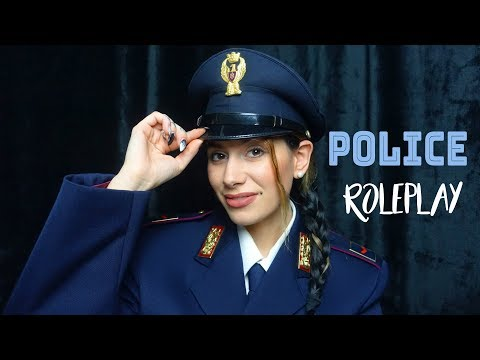 ASMR POLICE ROLEPLAY / UNINTELLIGIBLE SOFT SPOKEN WHISPER