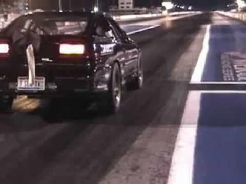John Shepherd Talon skating down the track at E-Town - Drag racing